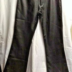 Formula X Black Faux Leather Pants Sz 5 6 Polyviny